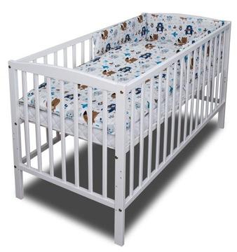 Детская кроватка + матрас + комплект постельного белья