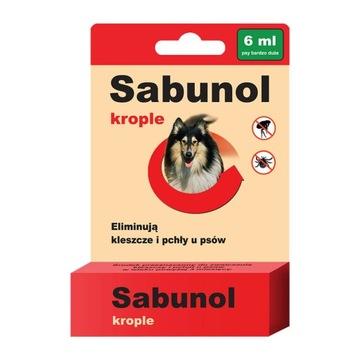 Сабунол Капли от клещей и блох 6 мл 40-60 кг