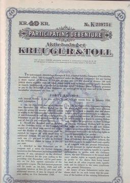 Kreuger & Toll, залог за 40 крон