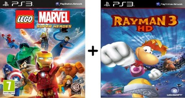 2 GRY PS3: LEGO MARVEL SUPER HEROES + RAYMAN 3 HD