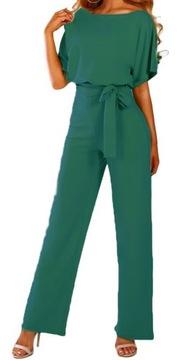 Elegancki Kombinezon Długie Spodnie Bluzka