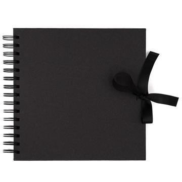 Альбом, основа для декора - черный, 20 х 20 см