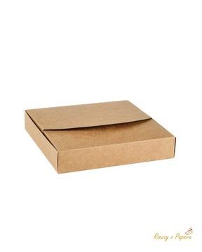 Цельная коробка 16х16х3см - крафт