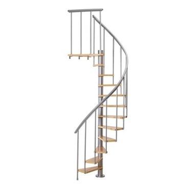 Dolle CALGARY 120 серебро / бук, винтовая лестница
