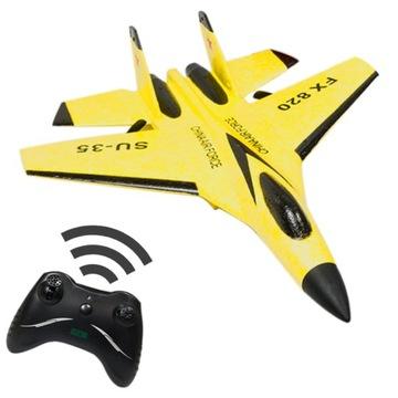 Желтый истребитель RC самолет