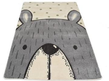 Ковер Petit Bear Teddy Bear Grey-Cream в горошек 120x170