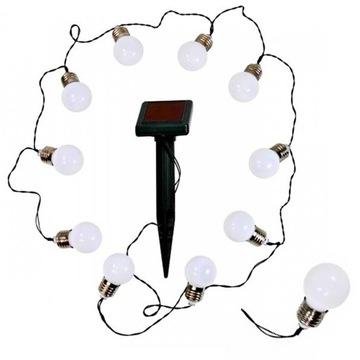 Садовая гирлянда на солнечных батареях MILKI, белые шары, 10 шт.