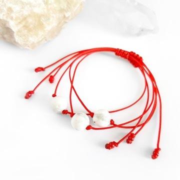 Красный браслет удачи магнезитовый магнит