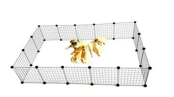 Манеж для щенков на ферме забег для собак 145x145
