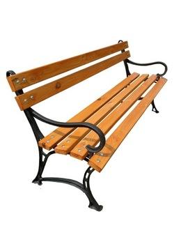 Садовая скамейка для террасы 150 см. ЧУГУННЫЕ НОЖКИ