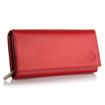 Skórzany portfel damski duży BETLEWSKI RFID