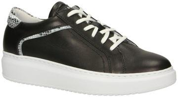 Sneakersy Nessi 20694 Czarny Czarne Czerń r. 39