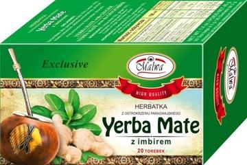 Чай Malwa Yerba Mate с имбирем 20x2г