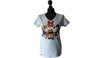 Koszulka damska ręcznie malowana - Atomówki - r. S