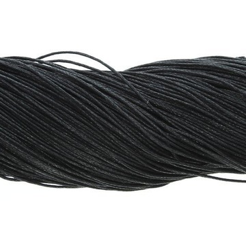 Вощеный хлопковый шнур черный 1мм ~ 80м оптом