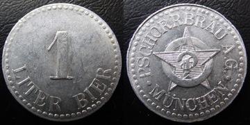 Пивной жетон 1 литр Pschorrbrau Munich