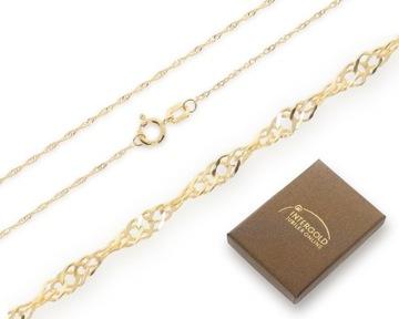 Złoty łańcuszek pełny singapur Próba 585