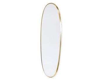 Золотое овальное зеркало повесить в спальне