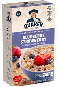 Quaker Oatmeal Blueberry Strawberry USA каша