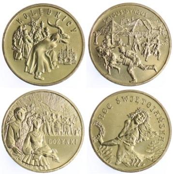 Серия монет 2 злотых - Год польского обряда (4 шт.)