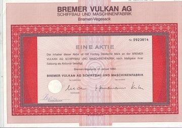 Бремер Вулкан, действие 1990 50 DM