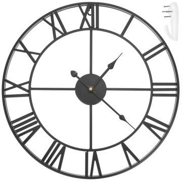 Ретро Лофт Римские 3D Винтажные Настенные Часы Большие