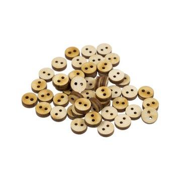 Деревянные пуговицы 50шт, 2 отверстия, фанера 10мм