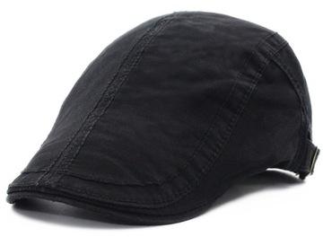 Kaszkiet męski czarny czapka casual
