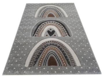 Ковер DIAMOND 3D 160x230 rainbow arches boho grey