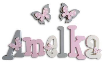БУКВЫ НА СТЕНЕ стикер 3D имя ребенка 6 букв