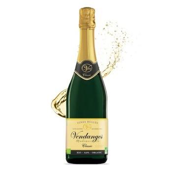 Безалкогольное игристое вино Vendanges Classic BIO
