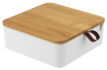Шкатулка с зеркальным ящиком для украшений из бамбука