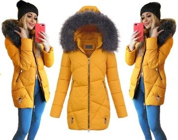 ASYMETRYCZNA taliowana kurtka zimowa NA MISIU L