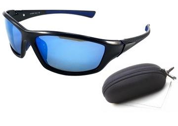 Okulary przeciwsłoneczne męskie sportowe dwa warianty
