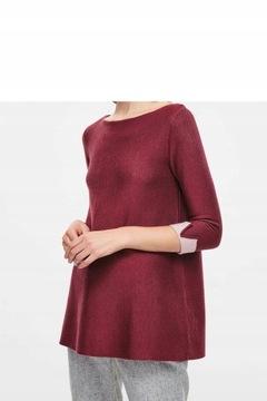 COS Sweter, Merino wool, burgund, Rozm.34/XS