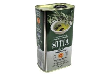 Греческое оливковое масло SITIA 1л. Экстра Вирджин 0,3% б. Свежий