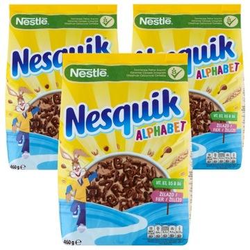 Nestle Nesquik Alphabet Сухие завтраки 3х460г