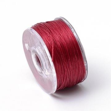 Мелованная нить для плетения бисера 0,1мм, 45м, красная
