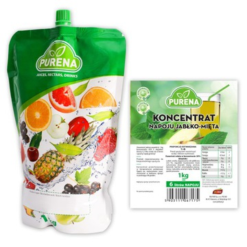 Напиток яблочно-мятный (концентрат) PURENA 6л / 1кг