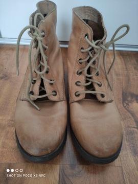ATMOSPHERE beżowe buty Skórzane botki Primark