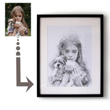 Индивидуальный портрет - рисунок карандашом в подарок