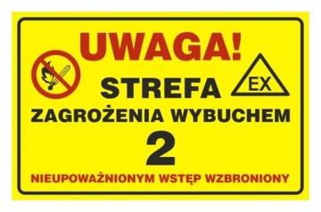Зона опасности взрыва газа 2. вход запрещен.