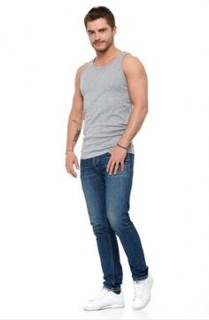 Top koszulka bez rękawów męski bawełniany szary2XL