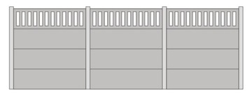 Бетонный забор тип A - 1:87 H0