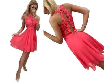 Sukienka Na Wesele Rozmiar 38 W Sukienki Wieczorowe Moda Damska Na Allegro Pl