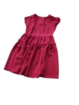 Sukienka rozkl. koral. czerwona r.XL Kozłowski