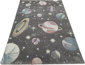 Ковер DIAMOND 3D 140x200 в звездах космического пространства планеты