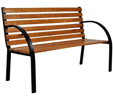 Армированная прочная деревянная садовая скамейка 122см