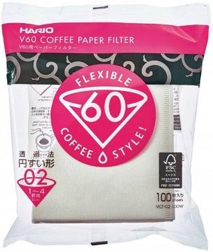 Бумажные фильтры для капель HARIO V60-02 100 шт.