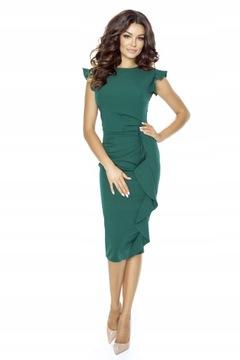 KARTES Ołówkowa sukienka z falbaną M/35